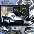 Silver Sports Car A4 Decoupage, Birthday