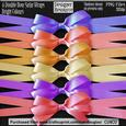Designer Resource - Double Bow Satin Wrap - Bright Colours