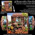 3D Room with a View - Gone for a Cuppa Garden Shed