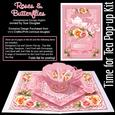 Time for Tea Pop-up Kit - Roses and Butterflies
