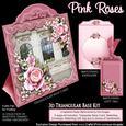 Triangular Base Kit Pink Roses