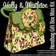 Handbag Gift Box Holly and Mistletoe