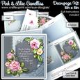 Pink and Lilac Camellias 5in x 5in Decoupage Kit Birthday