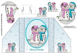 Snow in Love Reverse-fold Card
