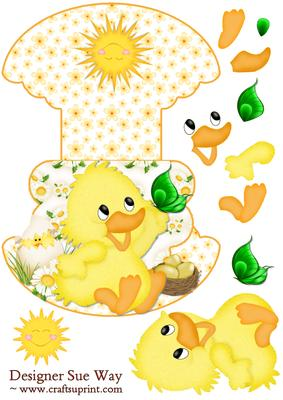 Easter Chick Wobble or Rocker Card
