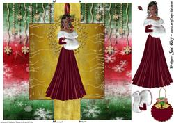 Christmas Lady Swing Card
