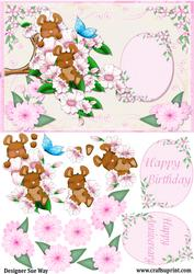 Apple Blossom Mice and Front and Decoupage