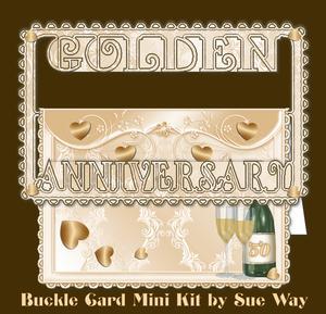 Golden Anniversary Buckle Card Mini Kit