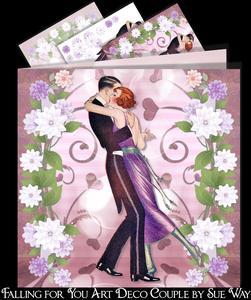 Falling for You Art Deco Couple Mini Kit