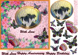 By the Light of the Moon Topper Butterfly Decoupage