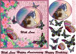 I Will Always Love You Hug Topper Butterfly Decoupage