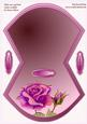 Pink Rose and Bud Rocker Wobble Card