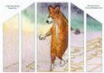 Corgi Dog Playing Hopscotch Theatre Fold
