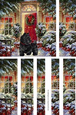 Scottie Dog Watching for Santa