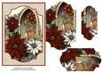 Church Window & Poinsettias