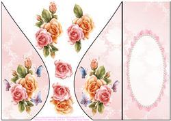 Beautiful Roses Teardrop Card