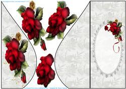 Beautiful Drama Roses Teardrop Card
