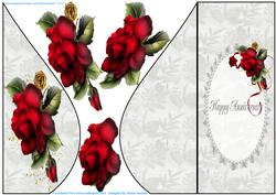 Beautiful Drama Roses Teardrop Card 2