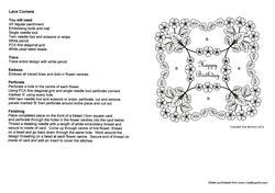 Lace Corners Parchment Card