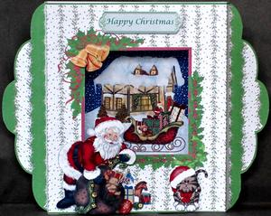 'santa's Arrival' Diorama Card Kit