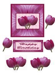 Tulip Decoupage Card Topper