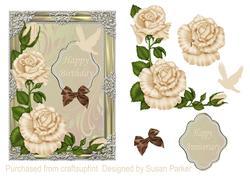 Framed Satin Roses