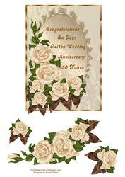 Elegant Golden Wedding Rose