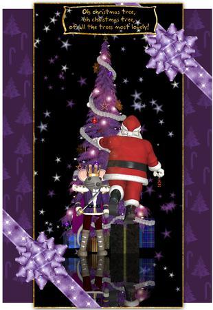 Santa Christmas Card Kit