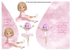Cute Little Ballet Teardrop Card