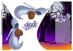 Halloween Boo Teardrop Card