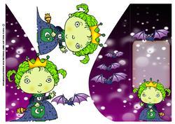 Little Princess Scary Halloween Card