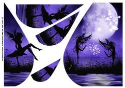 Fantasy Silhouette Teardrop Card