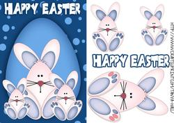 Easter Bunny Quick Step by Step with Blue Background