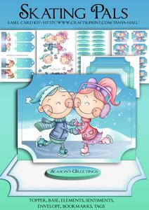 Cute Skating Pals Christmas Easel Kit