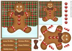 Gingerbread Man Tartan / Plaid Topper