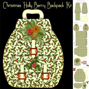 Christmas Holly Berry Backpack Kit