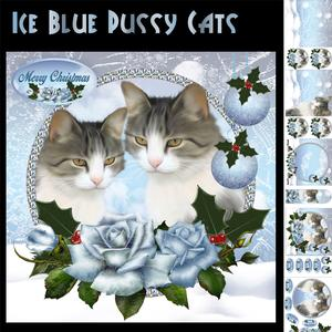 Ice Blue Pussy Cat Card Kit