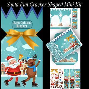 Santa Fun Mini Cracker Shaped Card Kit