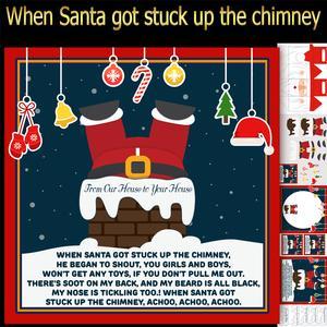 When Santa Got Stuck Up the Chimney Mini Kit