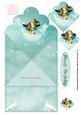 Pretty Little Butterfly Fairy Diamond Fold Card