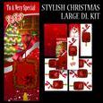Stylish Christmas Greeting Card Large Dl