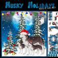Husky Christmas Mini Card Kit