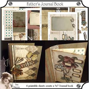 Fathers 5x7 Journal Book Kit