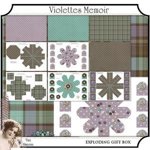 Violettes Memoir Exploding Box