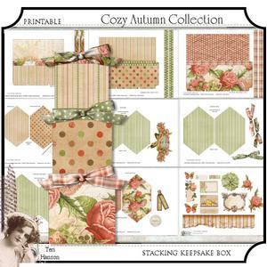 Cozy Autumn Stacking Keepsake Boxes