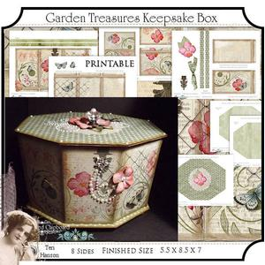 Garden Treasures Keepsake Box Printable