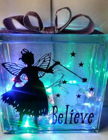 Fairy believe no2 for vinyl glass blocks luminaires for Glass boxes for crafts