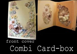 Flower and Butterfly Combi Card Box Handcut Version