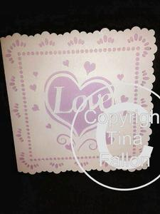 Pretty Heart Detail Card Template, Weddings Engagements