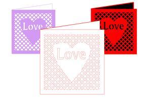 Love Card in Lattice Frame